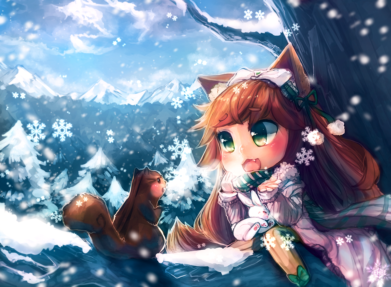 C: First Snow by ehbi