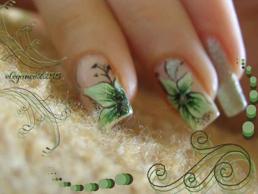 Flowers Nail Art by elegance2255