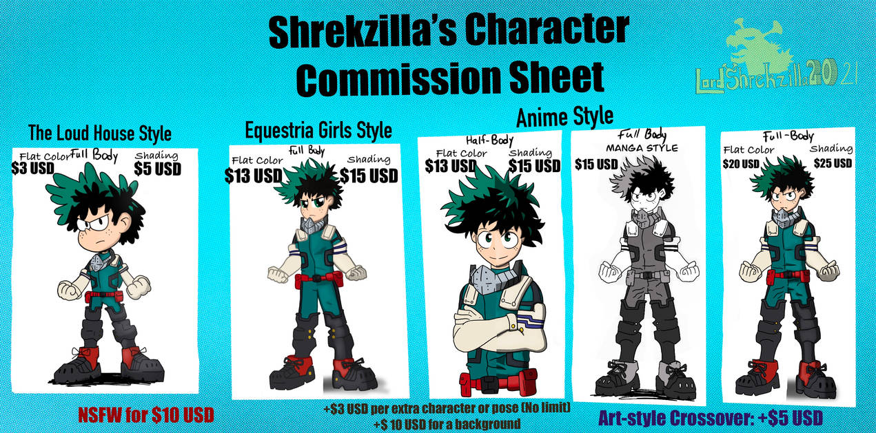 Character Commissions-Art Styles (OPEN)