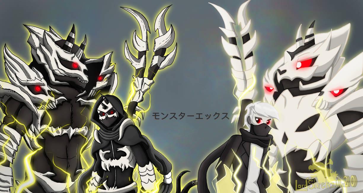Monster X in two artstyles
