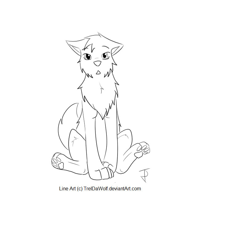 Line Art Using Gimp : Wolf line art ps sai gimp by treldawolf on deviantart