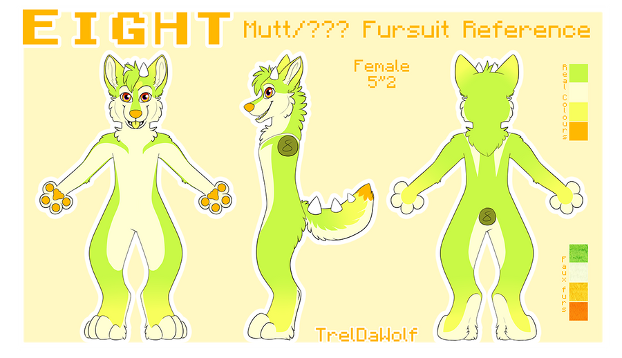 Eight Fursuit Reference by TrelDaWolf