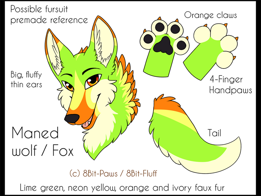 A Lot Of Maned Wolf By Loputyn Deviantart Com On: Possible Premade Ref! Maned Wolf By TrelDaWolf On DeviantArt