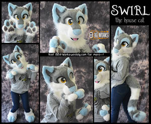 Swirl the cat -partial commission-
