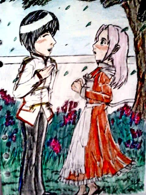 Prince Lee and Maid Sakura by hujikari