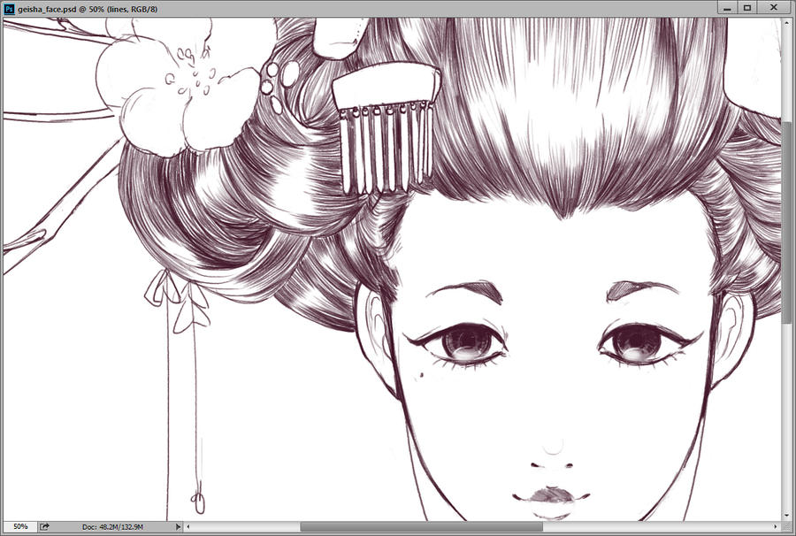 WIP geisha love by evikted