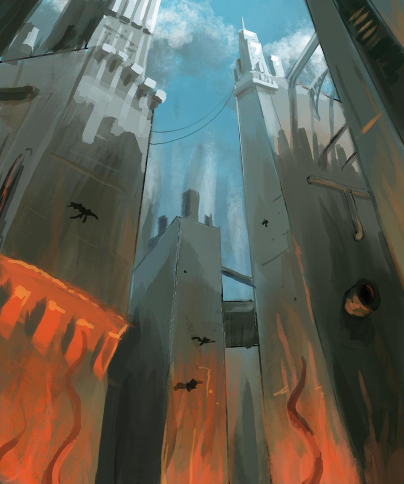 30 min speed painting challenge - Suburban terror by Lantletevo