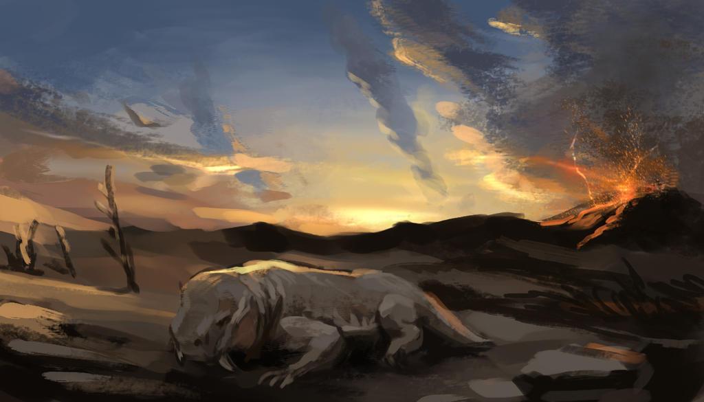 30 min speed painting challenge - Last of its kind by Lantletevo