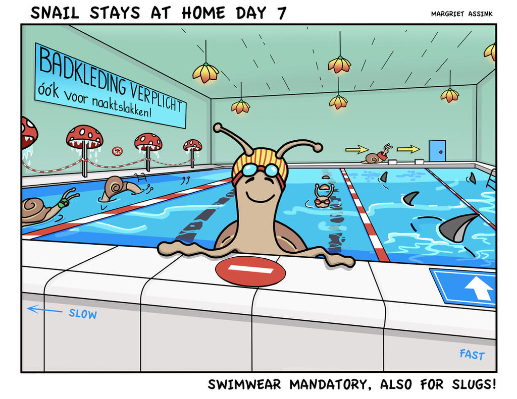 Snailday 7 Swimwear mandatory, also for slugs!