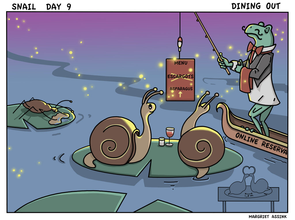 Snailday 9 Dining out