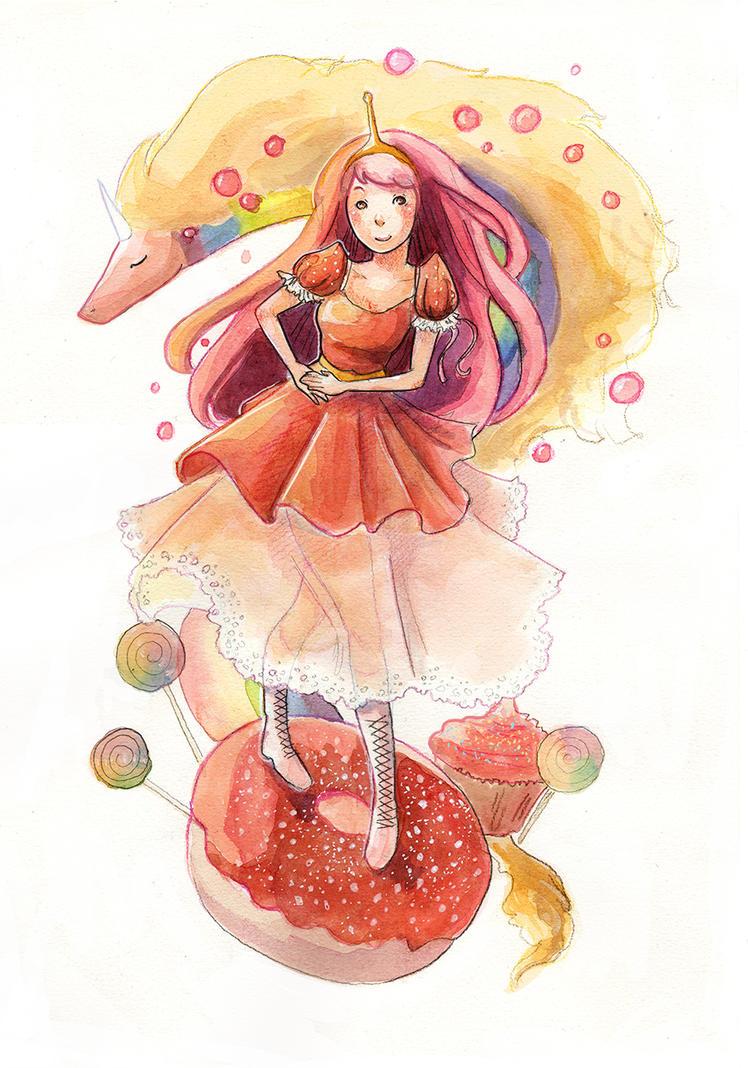 Princess Bubblegum And Lady Rainicorn ! by Lamby-J