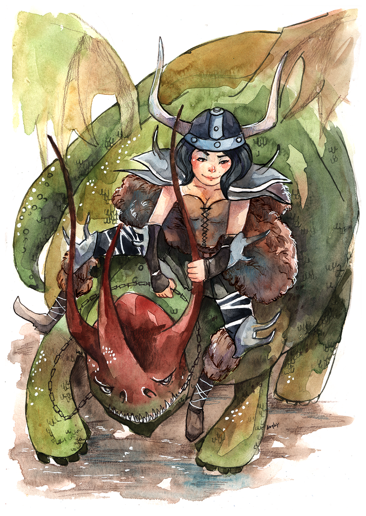 Cel and her Skullcrusher by Lamby-J