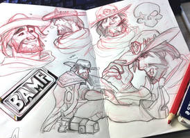McCree Sketches by TheDamn-ThinGuy