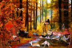 Autumn forest party
