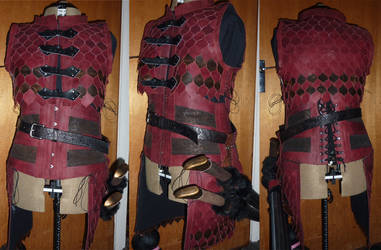 The armour so far... by Caturah