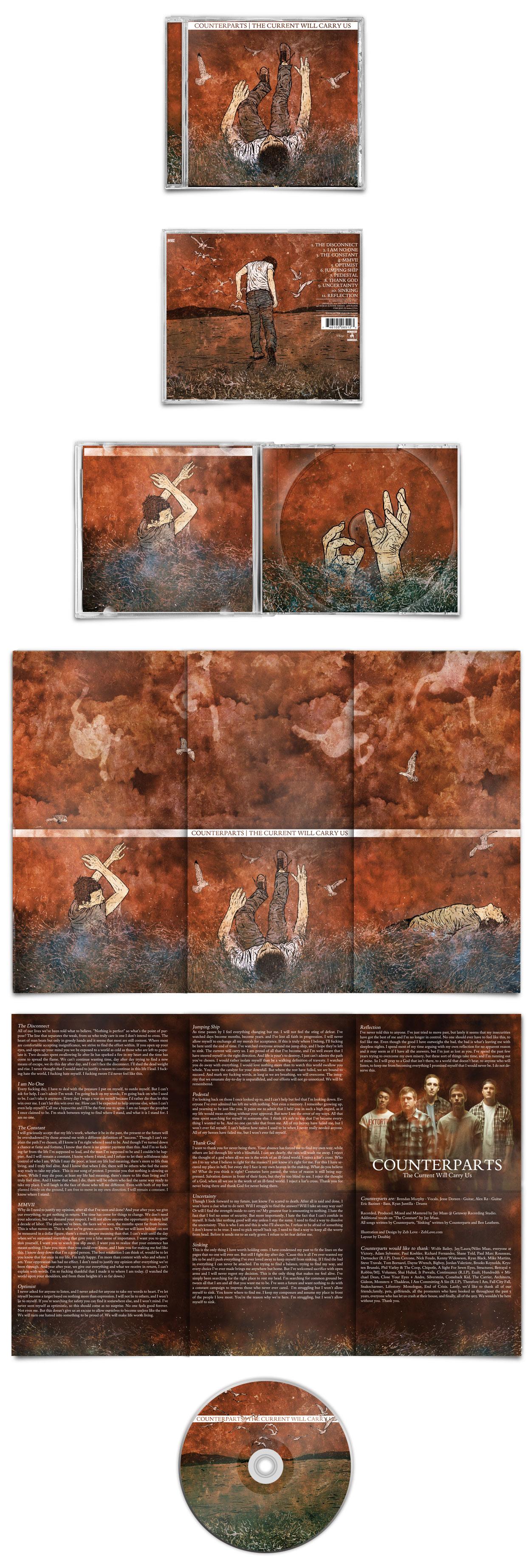 Counterparts CD Art by xzebulonx