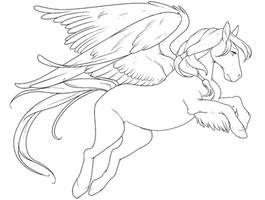Free Pegasus Lineart by Sapphira-Page