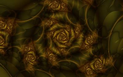 Julia Spiral Gold Roses by musoller