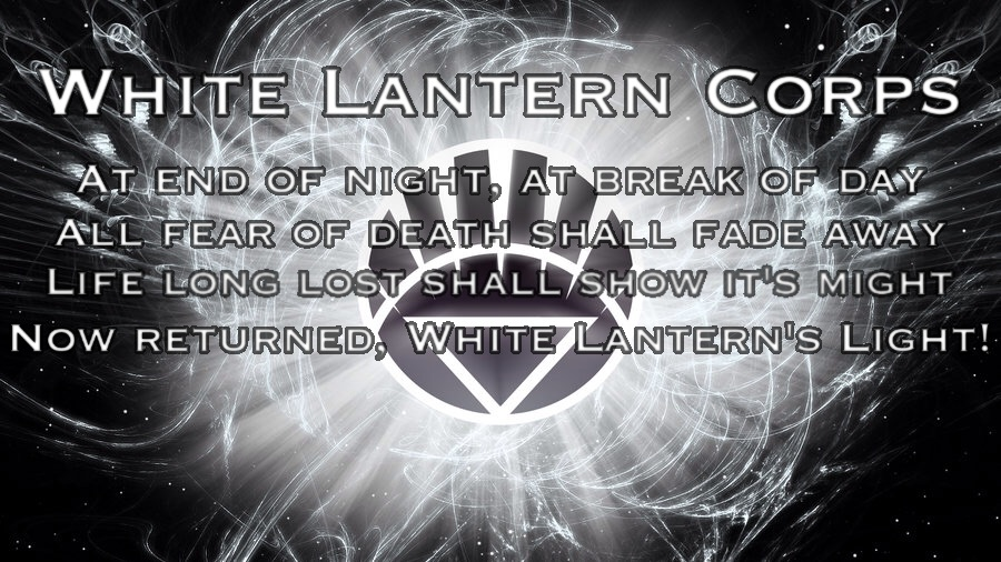You may show original images and post about White Lantern Corps Oath    White Lantern Oath Official