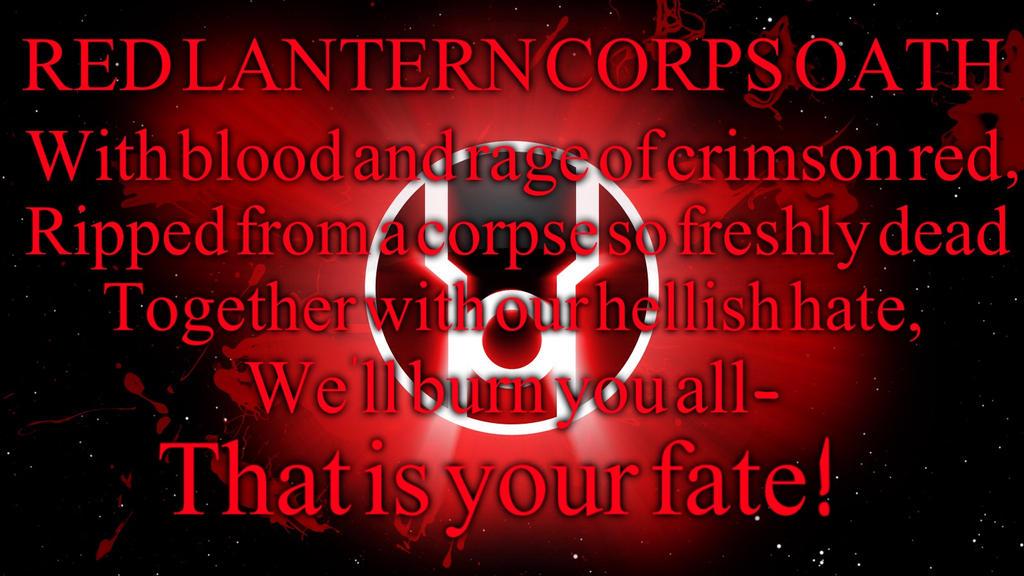 Red Lantern Corps Oath by Pattyw99 on DeviantArt Red Lantern Ring Oath