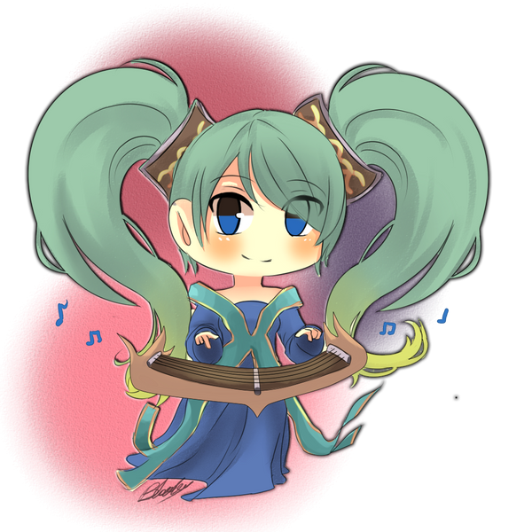 .: LOL :. Sona Chibi by BloodyCath