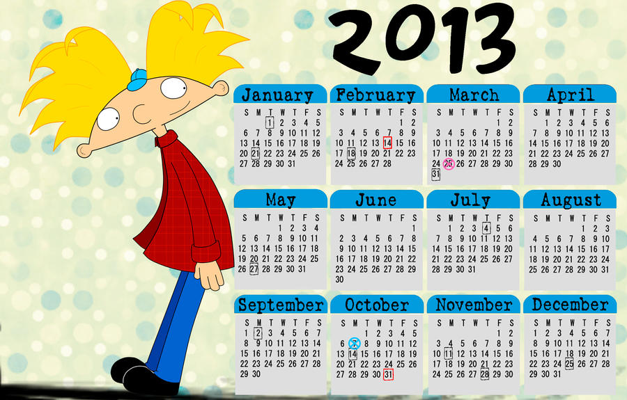 Hey Arnold! calendar 2013 Arnold by HeboFreire