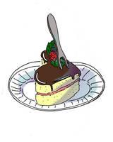 Sercowe ciasteczko z widelcem