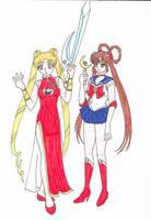 Devil Hunter Moon and Sailor Yohko by chohchohsama