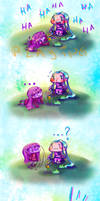 Jinx and Lulu playing with dolls when...