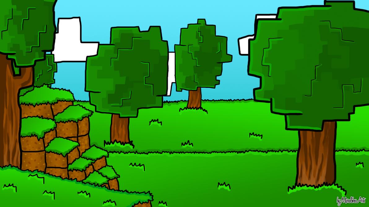 Fantastic Wallpaper Minecraft Green - minecraft_cartoon_wallpaper_by_maralikesarts-d8l10yf  Photograph_586346.png