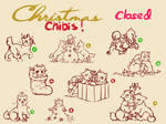 YCH- Christmas Chibis! Closed
