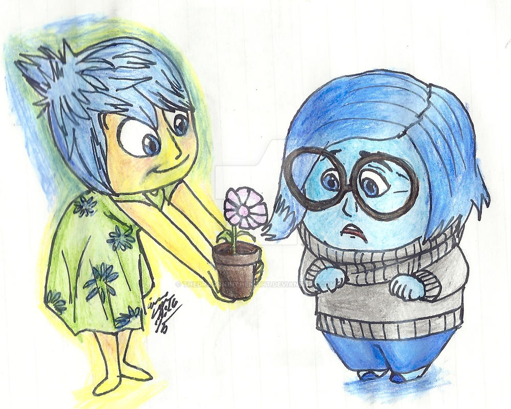Inside Out: Joy And Sadness By TheDragonInTheNight On