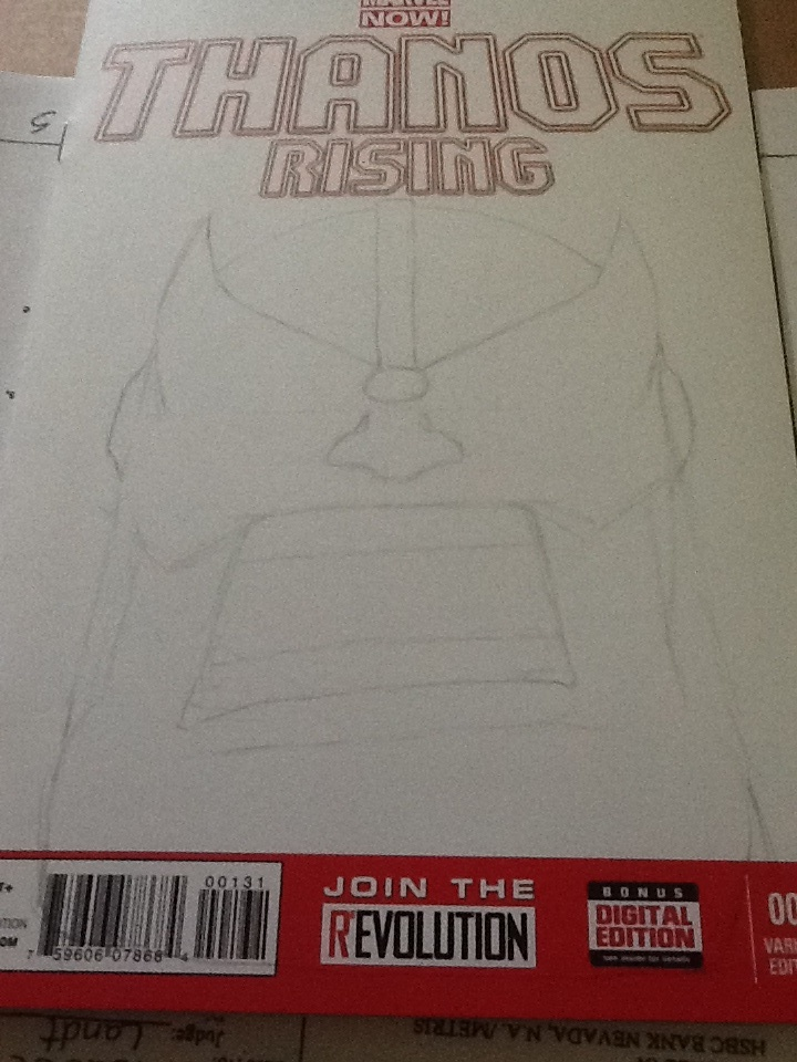 Pencils for Thanos sketch cover by elguluso
