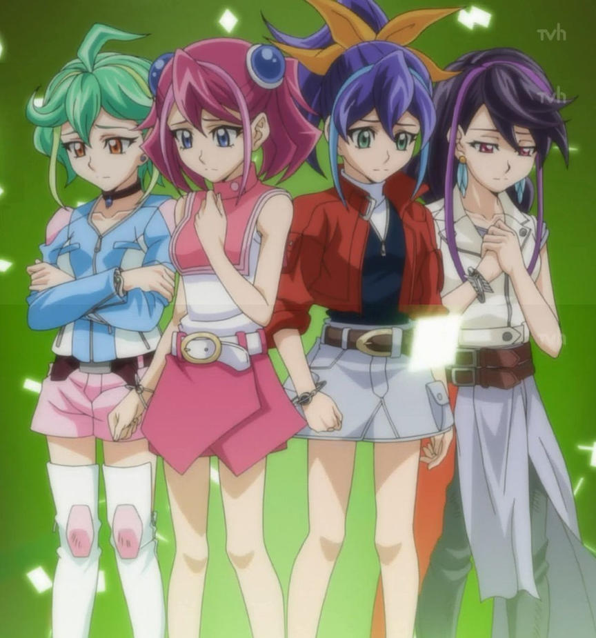 Yugioh Arc V The Four Girls In The World By Bluerathy-S On