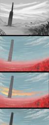The Dark Tower - Process by VonStreff