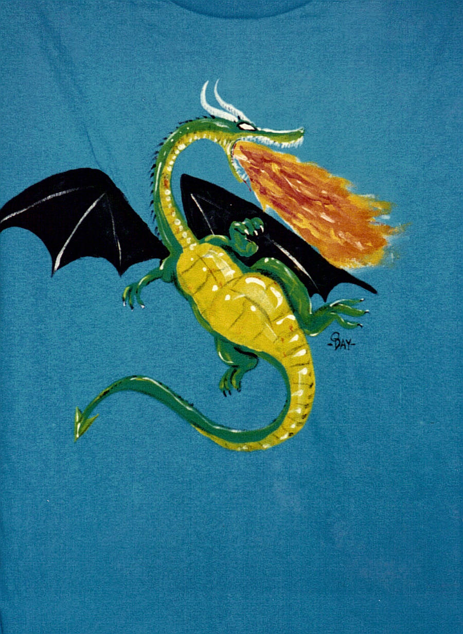 Flying turquoise dragon by Lukesworks