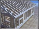 Wood Framed House Model