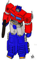 Optimus Prime by wildspark