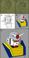 Gundam RX-78-2 head study process