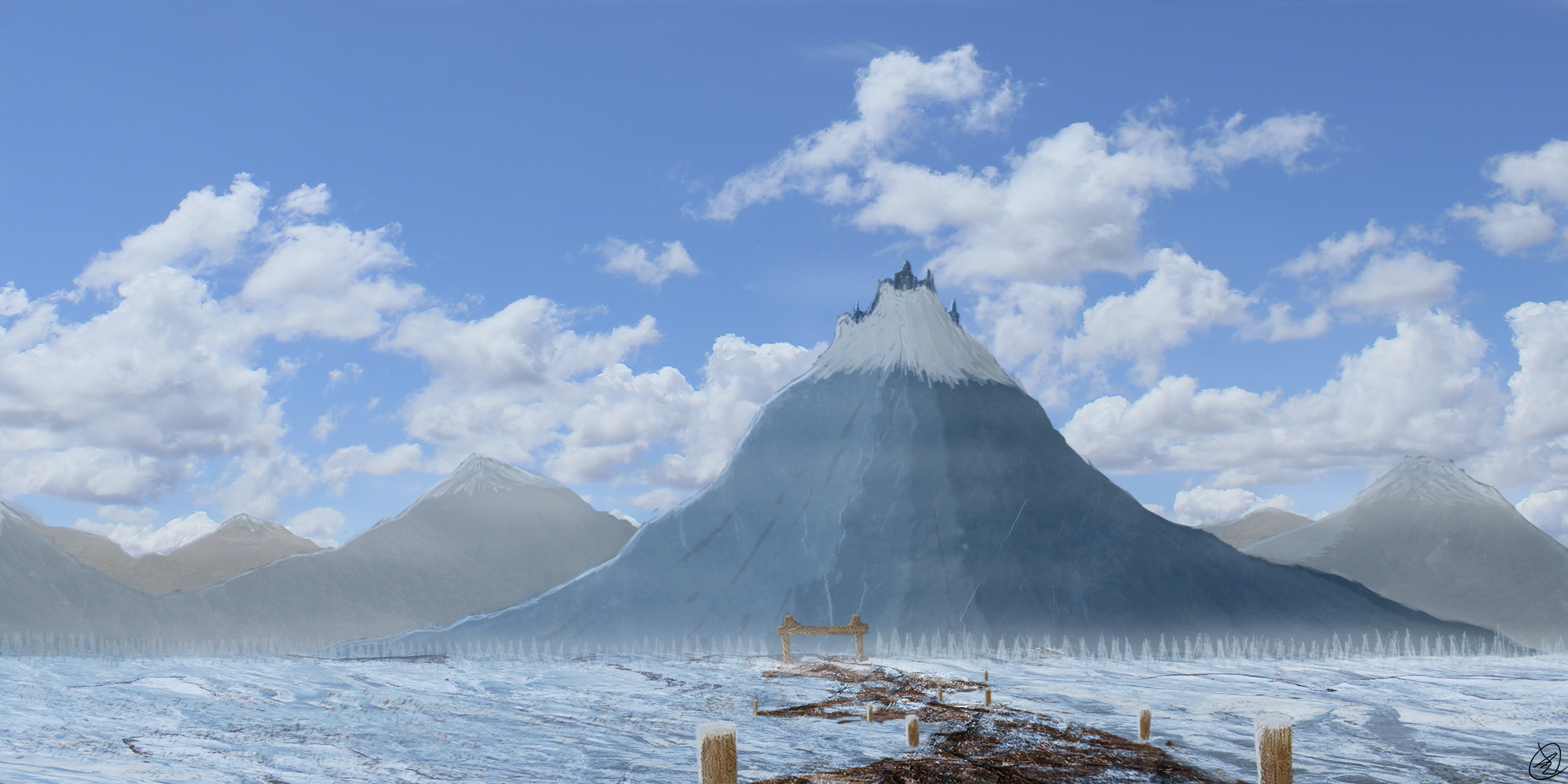 Gateway to the Ice Citadel by wildspark