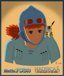 Nausicaa of the Valley of the Wind (Coloured) by wildspark