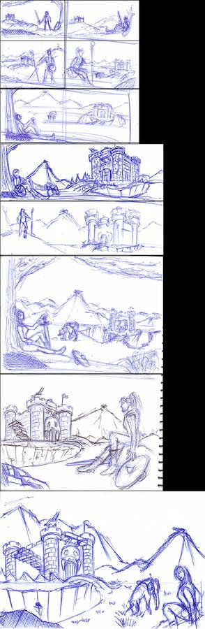 Castle Grayskull Landscape Thumbnails