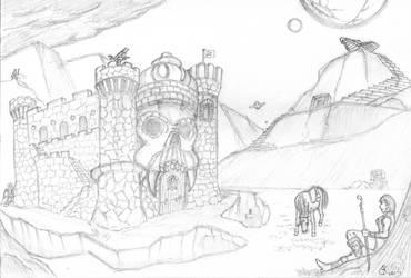 On the Outskirts of Castle Grayskull by wildspark