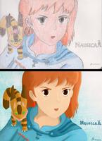 Nausicaa, coloured two ways