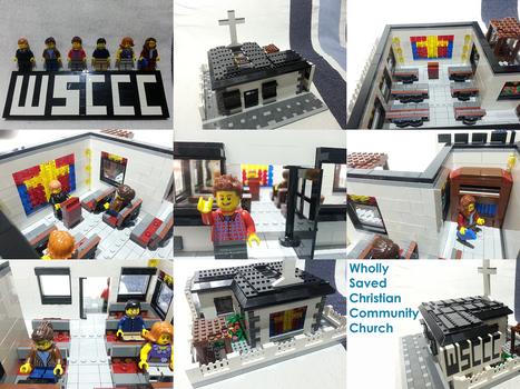 A LEGO church