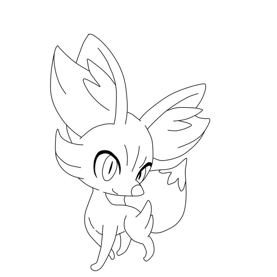 Free Coloring Pages Of Pokemon Fennekin For Lineart By Omoshihen