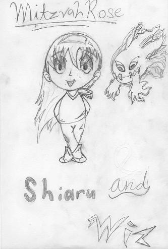 Shiaru and Wiz - Manga Style by MitzvahRose
