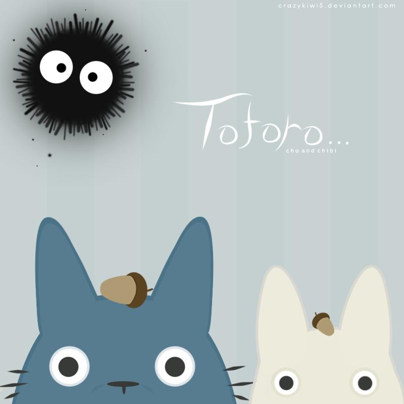 Totoro: Chibi and Chu by crazykiwi5