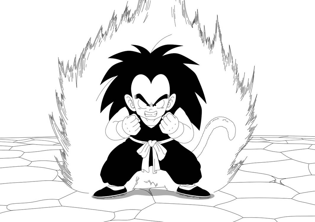 Zane Uses the Kaio-ken (Black and white version) by MariusWales