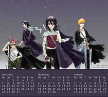 BLEACH Calendar JFM 2007 by one-of-the-Clayr